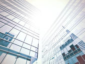 Sunny high successful business centers, construction concept — Stock Photo