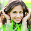 Beautiful female face — Stockfoto