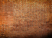 Grungy textured red brick wall — Foto Stock