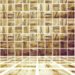 Golden Mosaic Texture — Stock Photo