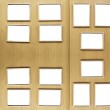 Golden picture frames — Stock Photo
