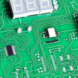 Close up view to Electronic circuit board — Stock Photo