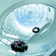 Stock Photo: Architectural limpid round ceiling with stair