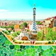 BARCELONA, SPAIN - JULY 25: The famous Park Guell, Spain — Stock Photo #25388487