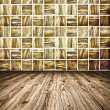 Stock Photo: Background of Golden Mosaic Texture, spacious vintage room with