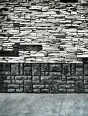 Textured stone wall and floor — Stock Photo