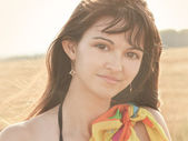 Portrait of beautiful female face — Stock Photo