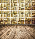 Background of Golden Mosaic Texture, spacious vintage room with — Stock Photo