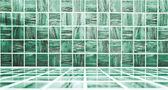 Background of Blue Mosaic Texture, spacious vintage room with st — Stock Photo