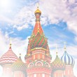 Cathedral of Vasily the Blessed on Red Square Moscow Russia — Stock Photo #25413897