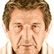Elderly sad man's face  — Stock Photo