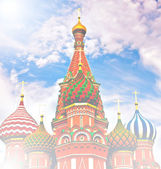 Cathedral of Vasily the Blessed on Red Square Moscow Russia — Stock Photo