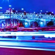 urban city at night with freeway traffic lights — Stock Photo
