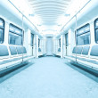 Interior of subway train — Stock Photo
