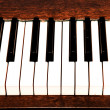 Details of black and white keys on music keyboard - selective focus — Stock Photo #25426873
