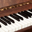 Details of black and white keys on music keyboard - selective focus — Stock Photo #25426883