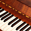 Details of black and white keys on music keyboard - selective focus — Stock Photo #25426885