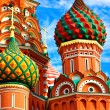 Moscow, Russia, Saint Basil's cathedral — Stock Photo