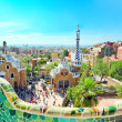 BARCELONA, SPAIN - JULY 25: famous Park Guell on July 25, 20 — Stock Photo #25428623