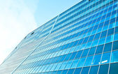 Stretched dark structure of modern windows — Stock Photo