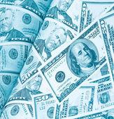 Rivista di sfondo denaro dollari — Foto Stock