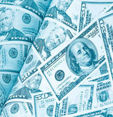 časopis dolarů peněz pozadí — Stock fotografie