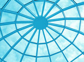 Round ceiling inside office center — Stock Photo