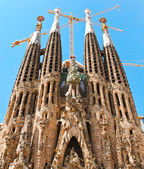 "BARCELONA SPAIN - JULY 25: ""La Sagrada Familia"", the unrealistic — Stock Photo"