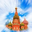 Cathedral of Vasily the Blessed in the Heaven — Stock Photo #26759109