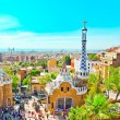 BARCELONA, SPAIN - JULY 25: The famous Park Guell on July 25, 20 — Stock Photo #26759839