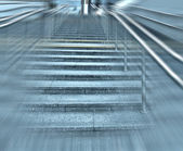 Modern staircase near office center — Stock Photo