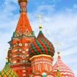 St. Basil's Cathedral on Red square in Moscow, Russia — Stock Photo