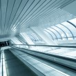 Perspective view to moving escalator in metro station — Stock Photo #5274544