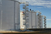 Oil storage tanks. — Stockfoto