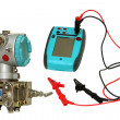 Foto de Stock  : Differential sensor and calibrator.