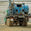Stock Photo: Mobile drilling rig.