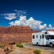 Stock Photo: RV canyonlands