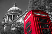 London phone box at St Paul's Cathedral — Stock Photo