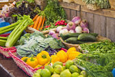 Vegetables in a market — Stock Photo