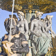 La Fontaine des Fleuves, Place de la Concorde, Paris - Stock Photo