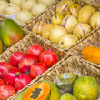 Fruit display in a street market — Stock Photo