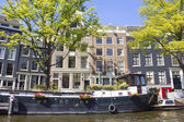 Boat house in Amsterdam — Stock Photo