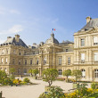 Stock Photo: French Senate and Jardin du Luxembourg, Paris