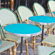Round tables in a cafe in Paris — Stock Photo