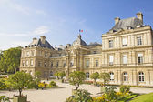 The French Senate and the Jardin du Luxembourg, Paris — Stock Photo
