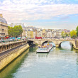 Stock Photo: Pont Neuf and the Seine river, Paris, France