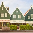 Houses in Volendam, The Netherlands - Stock Photo