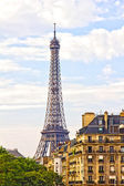 Paris and the Eiffel Tower — Stock Photo