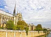 Notre dame katedrali, paris, fransa — Stok fotoğraf