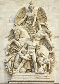 Details in the Arc de Triomphe, Paris — Stock Photo
